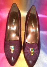 Bally Vision Burgundy Ladies Shoes Made In England. Size: UK 7.5.  EU41