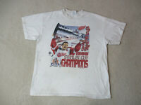 VINTAGE Detroit Red Wings Shirt Adult Extra Large White NHL Hockey Mens 90s A1*