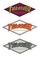 THRASHER SKATEBOARD MAGAZINE - DIAMOND STICKER - VARIOUS COLOURS - 4.5 X 2 INCH