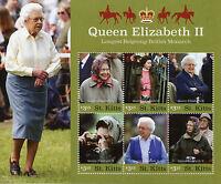 St Kitts 2016 MNH Queen Elizabeth II Longest Reign 6v M/S Royalty Stamps