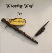 Cosplay Hand Crafted Hermione Wizarding Wand Pen Refillable Black Ink With Label