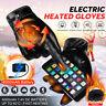 2Pcs Guanti Riscaldati con Batteria 3000mAh Termica Touch Screen Impermeabile