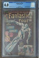 Fantastic Four #50 CGC 4.0  OW/W🔑 Silver Surfer Galactus 1966 Marvel MCU