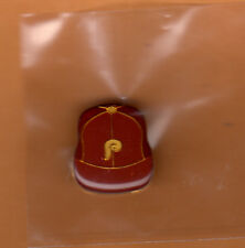 OLD 1970's PHILADELPHIA PHILLIES BASEBALL CAP LAPEL PIN Unsold Concessions Stock