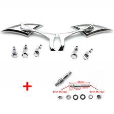 Universal Motorcycle Rearview Side Mirrors For Honda Kawasaki Suzuki Harley Bolt