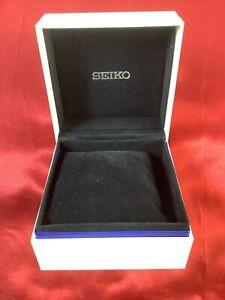 SEIKO Empty Watch Presentation Box White Exterior Black Interior With Pillow