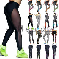 Womens Sports Pants Slim Stretch Leggings YOGA Fitness Trousers Athletic Apparel