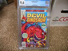 Devil Dinosaur 1 cgc 9.6 1st appearance of DD 1st Moon-Boy Marvel 1978 WHITE pgs