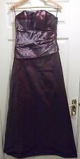 Size 8 Taffeta 2 Tone Dark Purple Prom/Bridemaid Dress