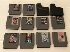Lot of 10 Nintendo Entertainment System NES Game Cartridges and Sleeves TESTED