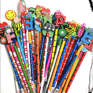 KIDS CHILDREN ANIMAL PENCILS WOODEN PARTY BAGS FILLERS GIFTS