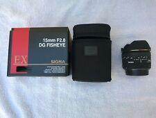Excellent Sigma 15mm f2.8 EX DG Diagonal Fisheye Lens for Canon EF