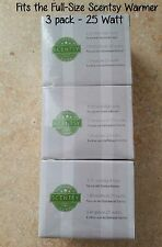 3 SCENTSY Light Bulbs-25 Watt-AUTHENTIC (Full Size warmers only)