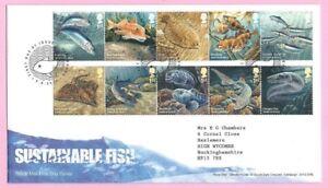 Royal Mail 2014 FDC - SUSTAINABLE FISH -  Shs FISHGUARD