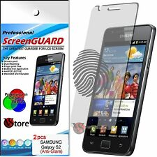 2 Pellicola Opaca Per Samsung Galaxy S2 i9100 Plus i9105 Antimpronta Display LCD