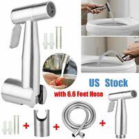 4PCS/SET Toilet Bidet Douche Spray Muslim Shattaf Sprayer Stainless Steel Shower