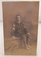 1905 SIGNED ANTIQUE PHOTO POSTCARD JOSEPH NOKES ACTOR? BLUE POST HOTEL STAFFORD*