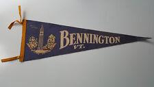 Vtg. Bennington, Vermont Felt Flag Pennant Large Blue Battle Monument 26 1/2 x 9