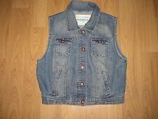 BNWOT Girls NEW LOOK Blue Denim Sleeveless Jacket Gilet Size 14