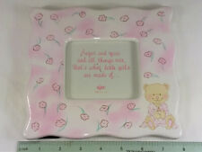 """LITTLE GIRL PICTURE FRAME, CERAMIC, 7"""" x 7 1/2"""" by RUSS- NEW"""