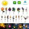 Solar Power LED Garden Light Flame Owl Lawn Way Ornament Outdoor Waterproof Lamp