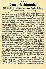 Zar Ferdinand der jüngste Souverän aus d.Hause Koburg Staatsminister Hentig1908