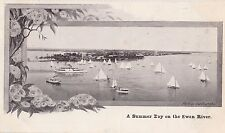 Postcard Summer Day Swan River Perth Western Australia by western mail, yachts