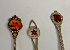 3 Vintage  Collectible Spoon Scotland  Sverige Sweden Canada Silver Plated