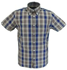 Trojan Check Front Polo-Chocolate//Sky