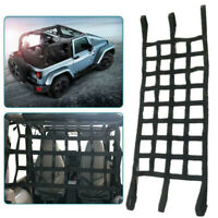 For Jeep Wrangler TJ JK JL Roof Network Car Hammock Net Cargo Storage Grid Black