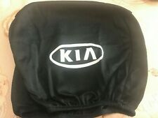 2 BLACK Headrest Covers for KIA Head Rest cover