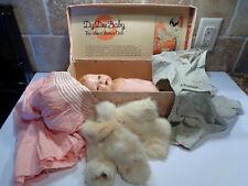 "Vintage 1934 DY-DEE BABY Almost Human Doll EFFANBEE Box 13"" MINK COAT Dress +++"