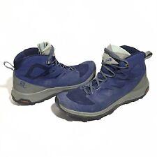 Salomon Outline Mid GTX Men's Size 13 Gore-Tex Shoes 404764 Hiking Boots Navy