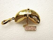 Juicy Couture Bracelet Fortune Cookie Opens w/fortune lot of 2 +1 Do Not Disturb