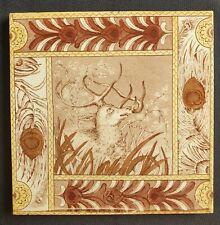 Aesthetic Movement Kate Greenaway Style Tile. Malkin Edge. C1900.