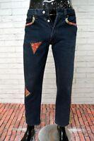 Jeans LEVIS Customizzato Uomo Taglia Size 28 Pantalone Pants Cotone Regular