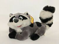 """Vintage Shalom Toy Co Raccoon Laying Down Plush Stuffed animal toy 12""""long"""