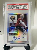 2015 Panini Contenders Championship Ticket Dres Anderson RC Auto #'d /99 PSA 10