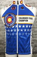 Pactimo Colorado State Champion Cycling Bike Vest Jersey Size S