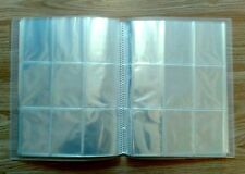 EMPTY TRADING CARD FOLDER/ BINDER/ ALBUM WITH 24,26,28 or 30 SLEEVES -USE BASKET