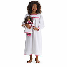 American Girl CL CECILE DUO FLANNEL NIGHTWEAR NIGHTGOWN SIZE M for Girl & Doll