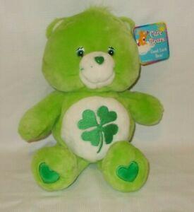 "Care Bears Good Luck Bear 13"" Stuffed Plush Animal 2002 TCFC New With Tags"