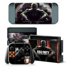 Call of Duty Black Ops Nintendo Switch Protective Skin 4 Pc Sticker Set - #0071