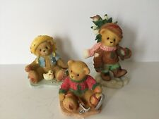 CHERISHED TEDDIES Set of 3 Figurines ABOUT THE WEATHER