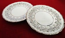 Bareuther Wallsassen Bavaria, Germany Set of Two Platinum Plates 7.25""