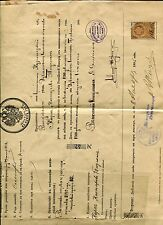 RUSSIA YR 1895 OLD LETTER OF MILITARY DISCHARGE WITH REVENUE #2