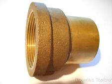 "New Lee Brass 2-1/2"" Fitting Adapter, Ftg x F, Female npt to 2-5/8"" O. D. Pipe"
