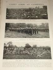 1902 PUBLIC SCHOOL CADETS CAMBERLEY DULWICH ETON ETC