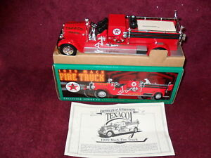 "1998 Issue TEXACO Collectible1929 MACK Diecast 1:32 SCALE FIRE ""PUMPER"" BANK"