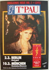 T'PAU CONCERT TOUR POSTER 1987 BRIDGE OF SPIES
